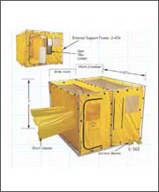 LI-363 Dual Chamber Tent  sc 1 st  Radiation Protection Systems & Work Tents